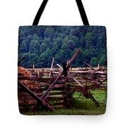 Old Farm Hay Rake Tote Bag