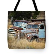 Old Farm Trucks Tote Bag