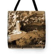 Old Fashion Thank You Card Tote Bag