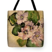 Old-fashioned African Violets Tote Bag