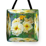 Old Fashioned Yellow Rose - Mirror Box Tote Bag