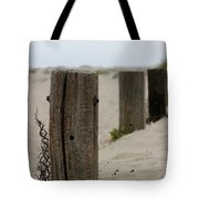 Old Fence Poles Tote Bag