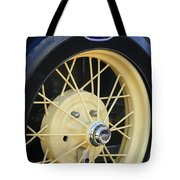Old Ford Wheel Tote Bag