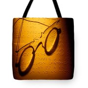 Old Glasses On Braille  Tote Bag