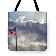 Old Glory In The Wind Tote Bag