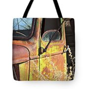 Old Green Truck Door Tote Bag