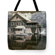 Old Grist Mill In Infrared Tote Bag