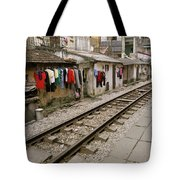 Old Hanoi By The Tracks Tote Bag