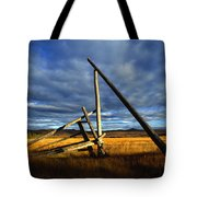 Old Homestead Near Pelly Crossing Tote Bag
