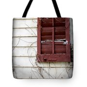 Old House Red Shutter 3 Tote Bag