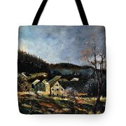Old Houses In Mogimont Tote Bag