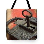 Old Key And Lock Tote Bag
