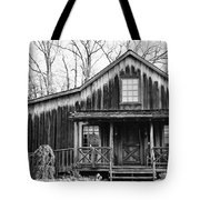 Old Log House Tote Bag