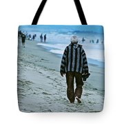 Old Man And The Beach Tote Bag