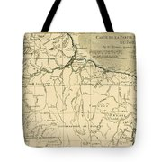 Old Map Of Northern Brazil Tote Bag by Guillaume Raynal