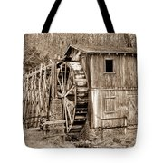Old Mill In Sepia Tote Bag