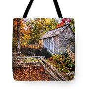 old mill Smoky Mountains Tote Bag