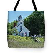 Old Mission Point Lighthouse 5306 Tote Bag by Michael Peychich