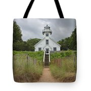 Old Mission Point Lighthouse Tote Bag