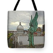 Old Montreal Angel Tote Bag