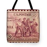Old Nra Postage Stamp Tote Bag