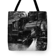Old Number Three_climax Locomotive_durbin Wv _bw Tote Bag