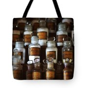 old pharmacy 2 - Old glass bottle with medicine powder of xviii century Tote Bag