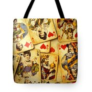 Old Playing Cards Tote Bag