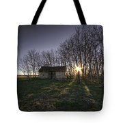 Old Prairie Homestead At Sunset Tote Bag
