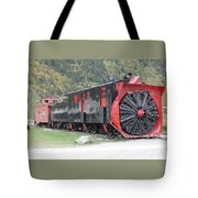 Old Rail Snow Pusher Tote Bag