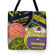 Old Record Labels Tote Bag