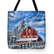Old Red Barn Hdr Tote Bag