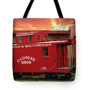 Old Red Caboose 500 Tote Bag