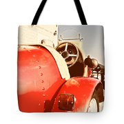 old Red Race Car Tote Bag