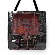 Old Red Train Tote Bag
