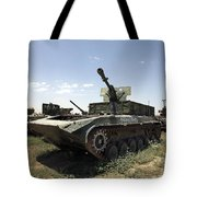 Old Russian Bmp-1 Infantry Fighting Tote Bag