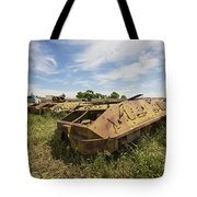 Old Russian Btr-60 Armored Personnel Tote Bag