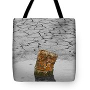 Old Rusted Barrel Abstract Tote Bag