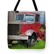Old Rusted Semi-truck  Tote Bag