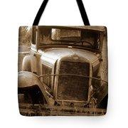 Old Rustic Ford-sepia Tote Bag