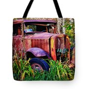 Old Rusting Truck Tote Bag