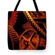 Old Rusty Gears Tote Bag by Garry Gay