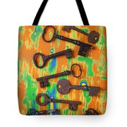 Old Rusty Keys Tote Bag
