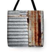 Old Rusty Sheet Metal Tote Bag