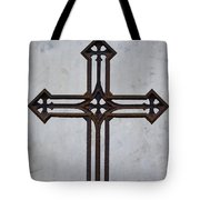 Old Rusty Vintage Cross Tote Bag