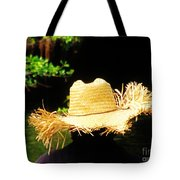 Old Straw Hat Tote Bag