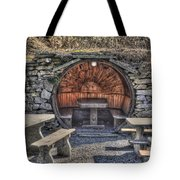 Old Tables And Benches Tote Bag