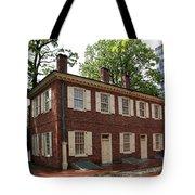 Old Town Philadelphia Brownstone House Tote Bag