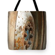 Old Tractor Wheel Tote Bag