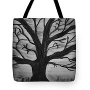 Old Tree With No Leaves Tote Bag